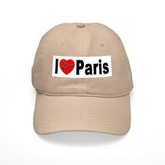 I Love Paris Baseball Cap