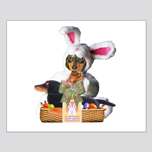 Easter Bunny Lily Small Poster