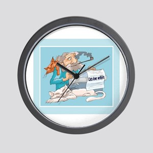 Cats & Writers Wall Clock