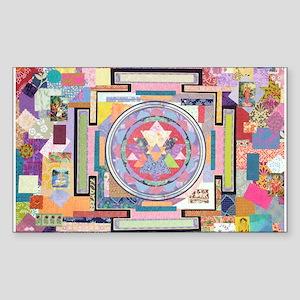 Sri Yantra Collage Rectangle Sticker