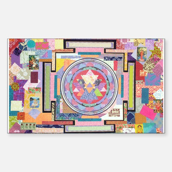 Sri Yantra Collage Rectangle Decal