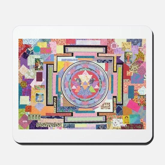 Sri Yantra Collage Mousepad