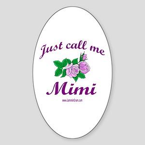MIMI 1 Oval Sticker