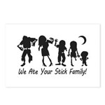 We Ate Your Stick Family Postcards (Package of 8)