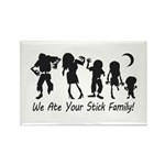 We Ate Your Stick Family Magnets