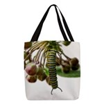Monarch Butterfly Caterpillar Polyester Tote Bag
