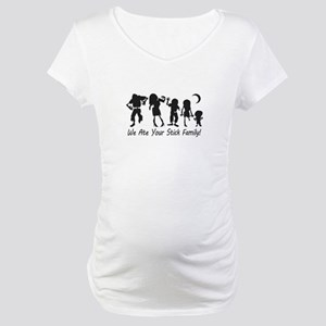 We Ate Your Stick Family Maternity T-Shirt
