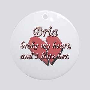 Bria broke my heart and I hate her Ornament (Round