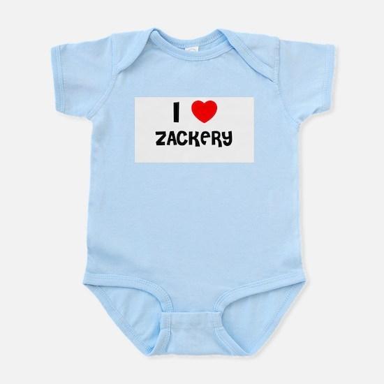 I LOVE ZACKERY Infant Creeper