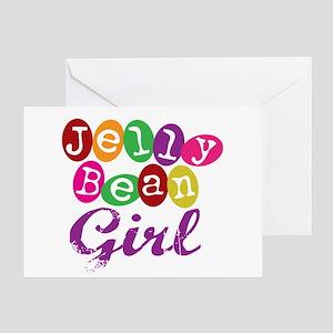 Jelly Bean Girl Greeting Card