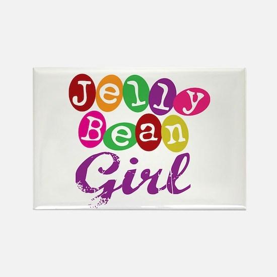 Jelly Bean Girl Rectangle Magnet