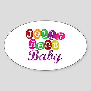 Jelly Bean Baby Oval Sticker