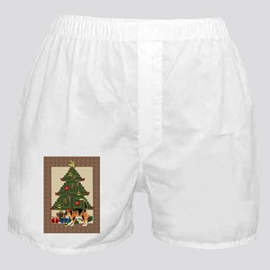 Tree trimming cat Boxer Shorts