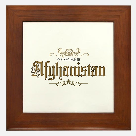Cute Taliban Framed Tile