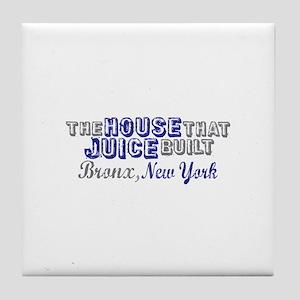 House that Juice Built Tile Coaster