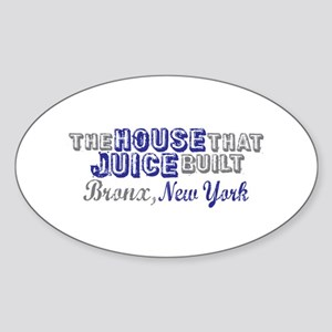 House that Juice Built Oval Sticker (10 pk)
