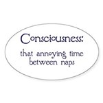 Consciousness Naps Oval Sticker (50 pk)
