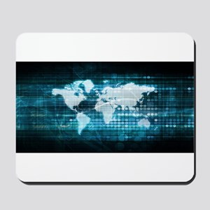 Digital Global Technology Concept Abstra Mousepad