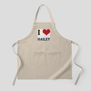 I Love Hailey BBQ Apron