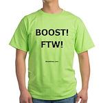Nemesis Racing - BOOST! FTW! - Green T-Shirt