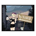 Germaine & Foamy City Scene Small Poster