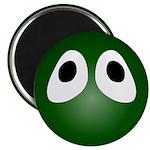 Green Blob Eyes Round Magnet