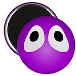 Magenta Blob Eyes Round Magnet