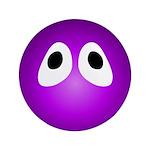 Magenta Blob Eyes Round 3.5