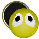 Yellow Blob Eyes Round Magnet