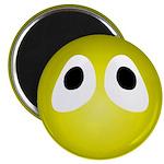 Yellow Blob Eyes Round Magnet