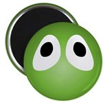 Slimy Green Blob Eyes Round Magnet