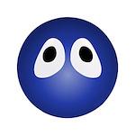 Blue Blob Eyes Round 3.5