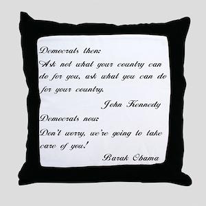 Kennedy to Obama Throw Pillow
