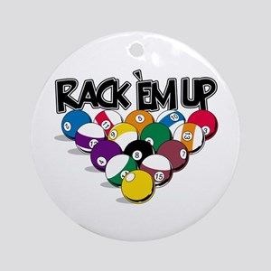 Rack Em Up Pool Ornament (Round)