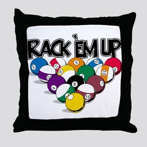 Rack Em Up Pool Throw Pillow
