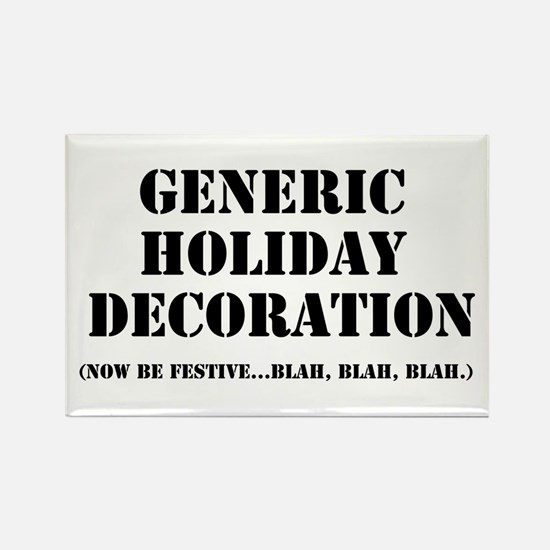 Generic Holiday Gear Rectangle Magnet