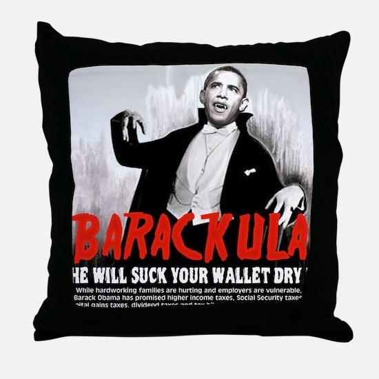 Obama Blood Sucking Socialist Throw Pillow