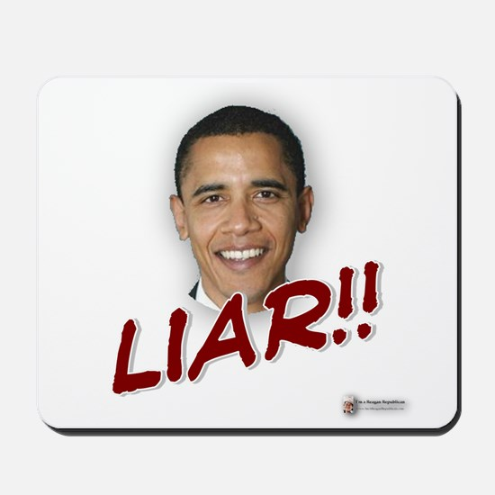 Obama liar Mousepad