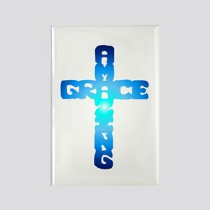 Amazing Grace Cross Rectangle Magnet