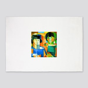 Diego Rivera Kawashima and Foujita 5'x7'Area Rug