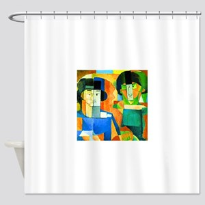 Diego Rivera Kawashima and Foujita Shower Curtain