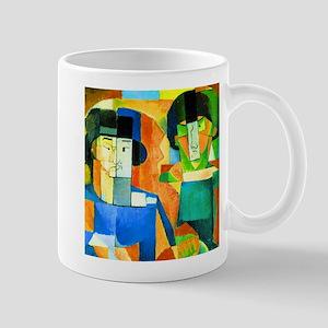Diego Rivera Kawashima and Foujita Mugs