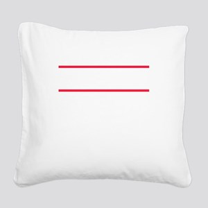 Simple yet eye-catching tee d Square Canvas Pillow