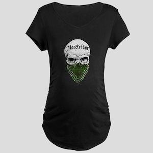MacArthur Tartan Bandit Maternity Dark T-Shirt