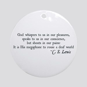 God Shouts in our Pain Ornament (Round)