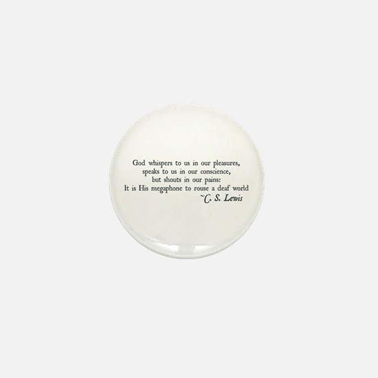God Shouts in our Pain Mini Button