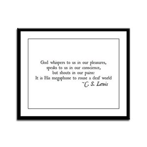 God Shouts in our Pain Framed Panel Print