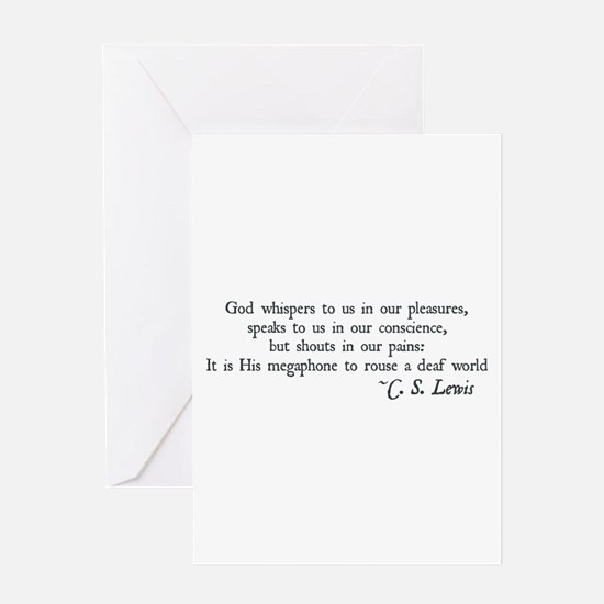 God Shouts in our Pain Greeting Card