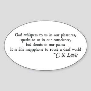 God Shouts in our Pain Oval Sticker