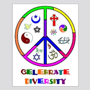 Celebrate Diversity Small Poster